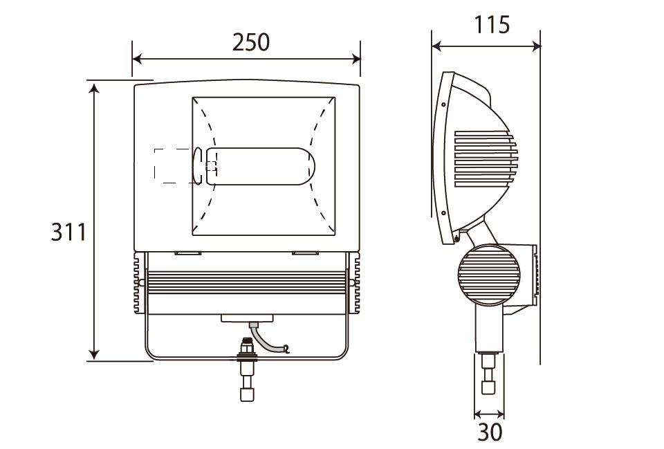 HID150W(電球色)補足図