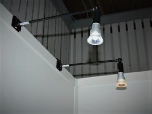 LEDアームスポット(灯体黒) 昼光色・電球色
