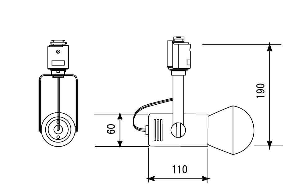 ライティングレール用スポットパルック球(昼光色・電球色)補足図