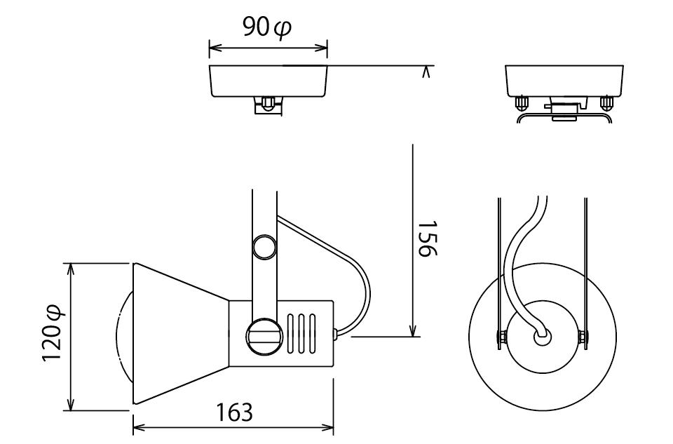 フレンジスポット(昼光色・電球色)補足図