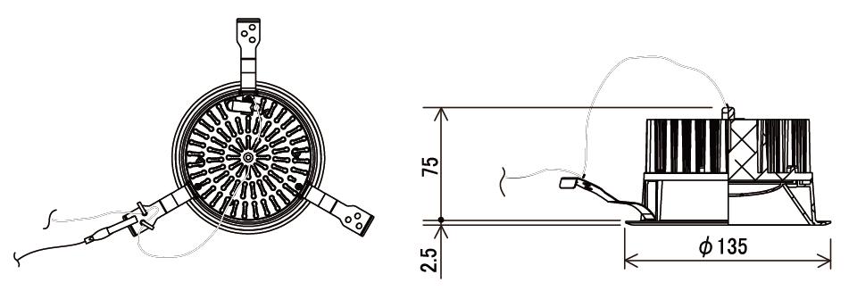 125Φ LEDダウンライト補足図