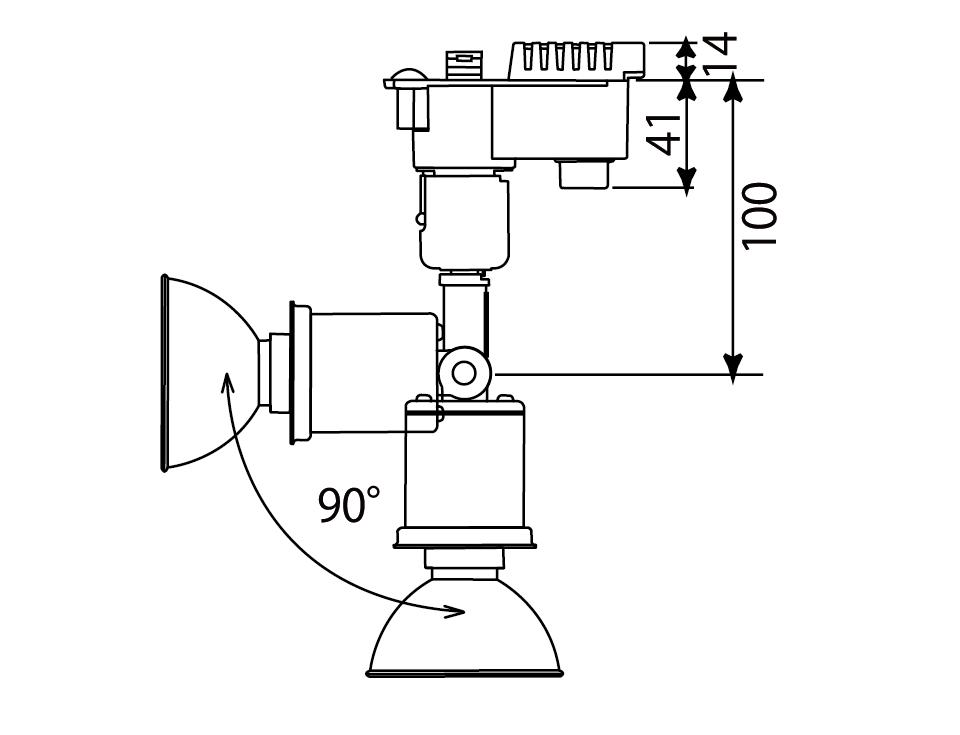 ライティングレール用調光スポット補足図