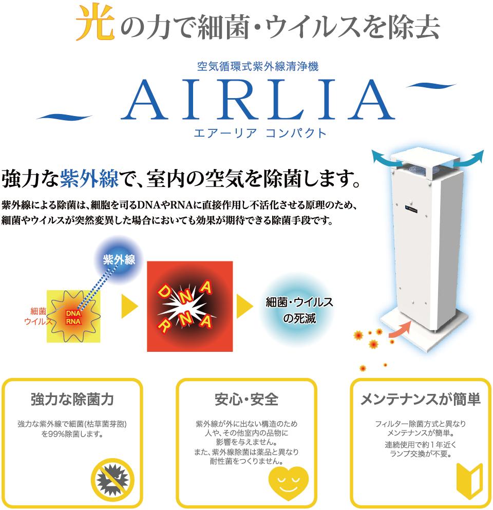 空気循環式紫外線清浄機エアーリア コンパクト
