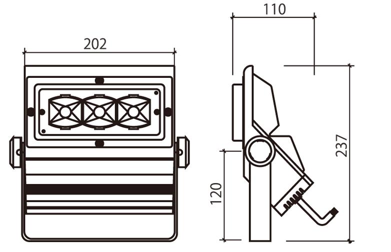 LEDスポット60W補足図